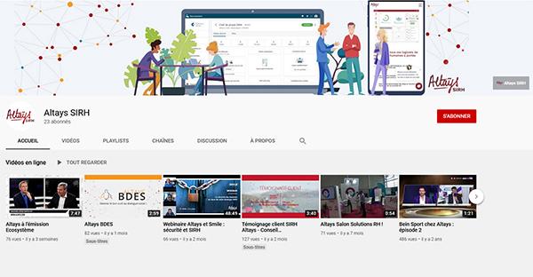Altays SIRH sur YouTube